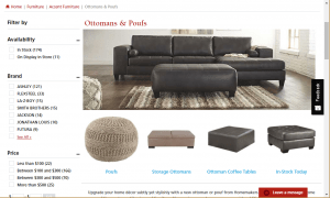 Poufs and Ottomans on Homemaker's page.