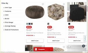 Poufs and Ottomans on JCpenney's page.