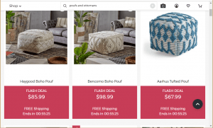 Poufs and Ottomans on Joss and main's page.