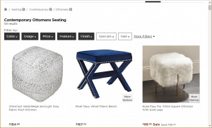 Poufs and Ottomans on Lights and plus's page.