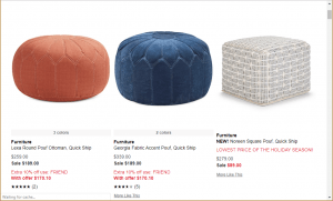 Poufs and Ottomans on Macy's page.