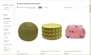 Poufs and Ottomans on Nordstrom's page.