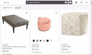 Poufs and Ottomans on perigold's page.