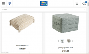 Poufs and Ottomans on Rooms to go's page.