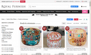 Poufs and Ottomans on Royal furnish's page.