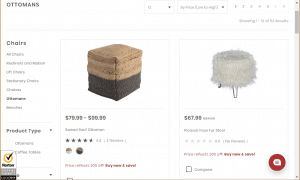 Poufs and Ottomans on Slumberland Furniture's page.
