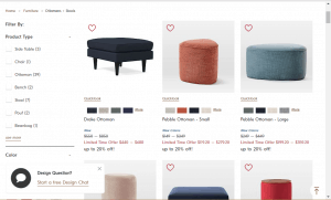 Poufs and Ottomans on Western elm's page.