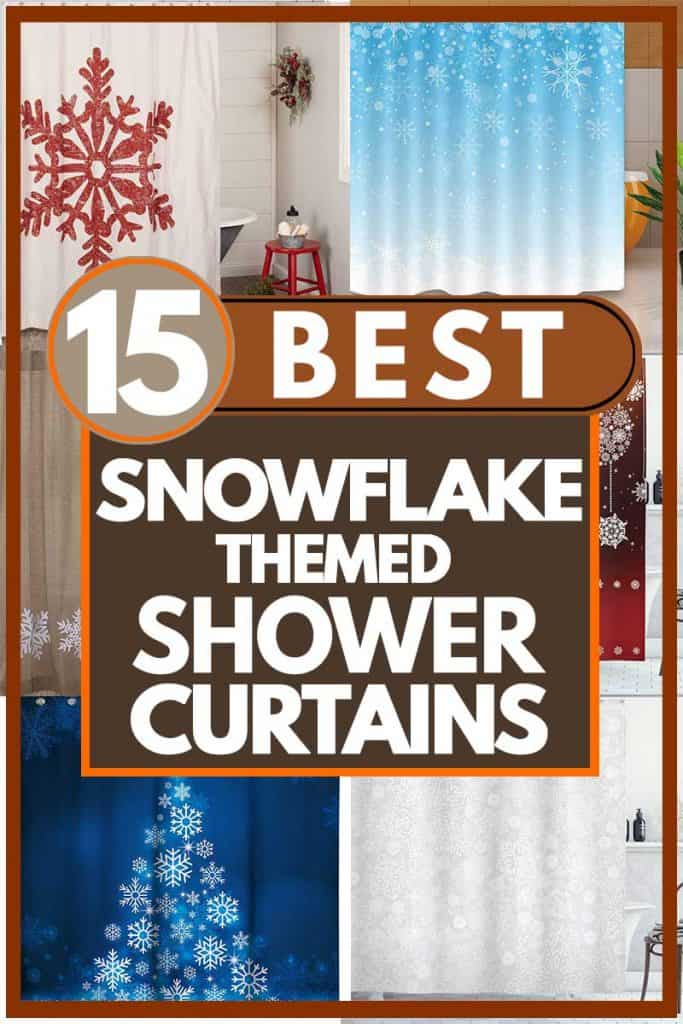 15 Best Snowflake-Themed Shower Curtains