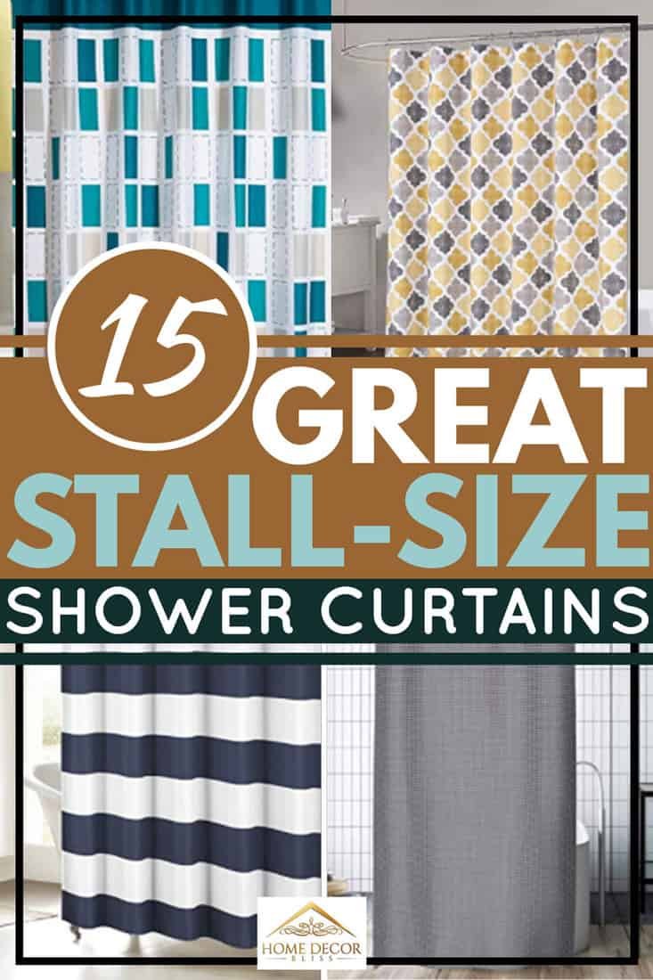 15 Great Stall-Size Shower Curtains