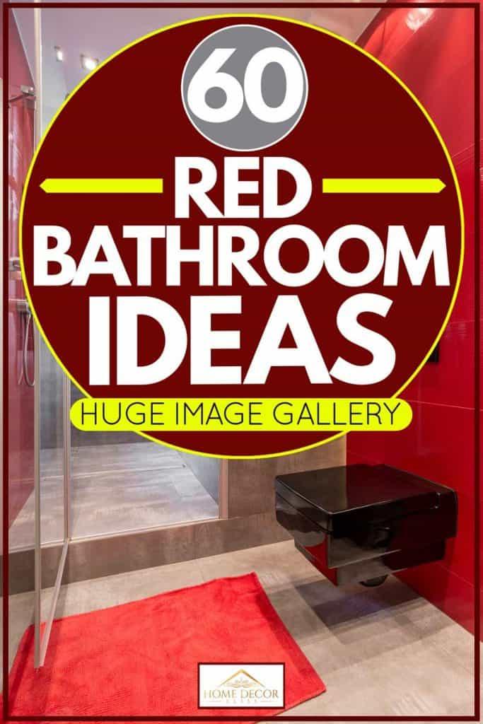 60 Red Bathroom Ideas [Huge Image Gallery!]