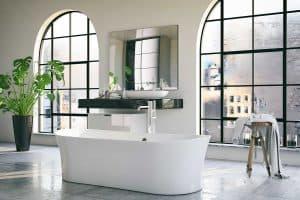 Bathtub in a loft interior