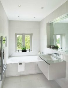 Bright guests bathroom