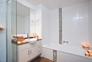 Candlelit modern style bathroom