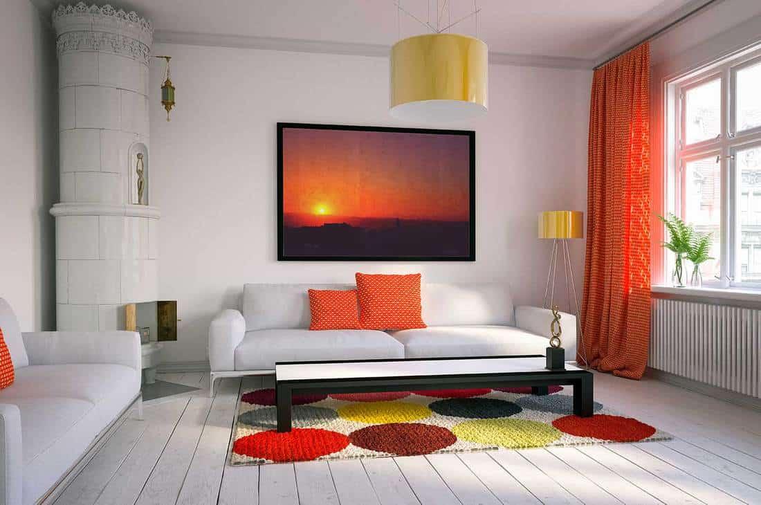 Cozy scandinavian style home living room interior design