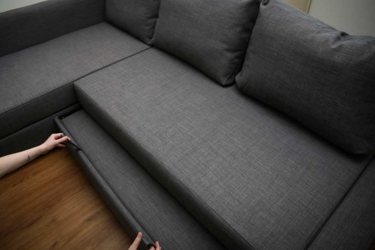 Opening a sofa bed