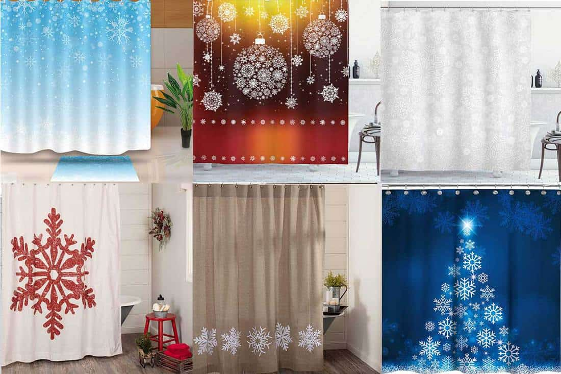 15 Best Snowflake Themed Shower Curtains Home Decor Bliss