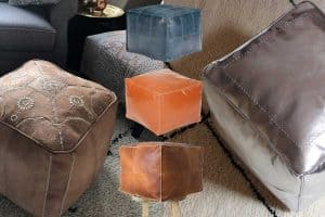 8 Awesome Square Moroccan Poufs You Should Check Out