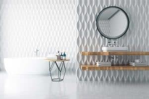 Luxury large bathroom interior