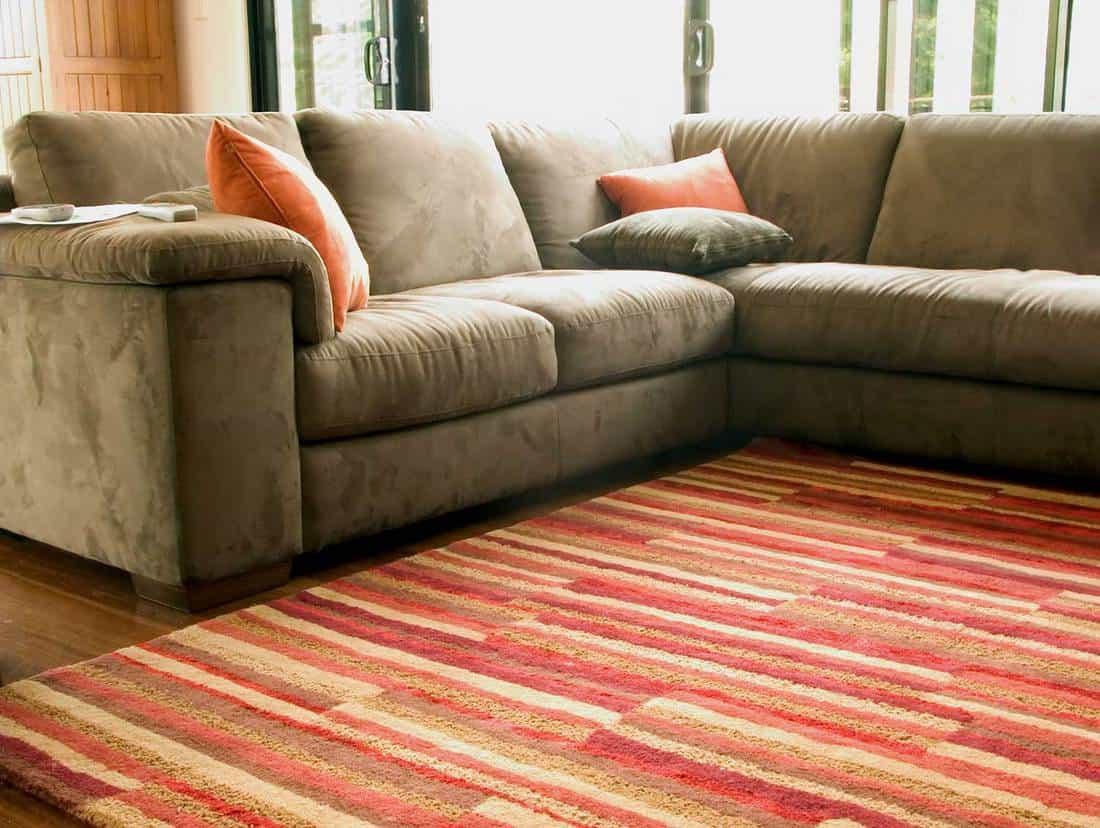 Modern home lounge with soft corner living room sofa