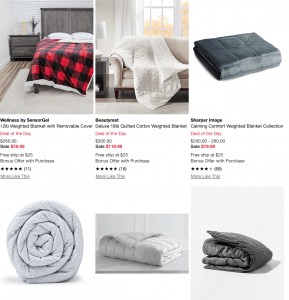 Macy's page / site for weighted blanket for sale