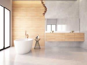 Spacious modern bathtub interior