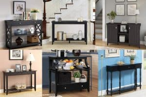 Top 10 Black Entry Tables With Drawers