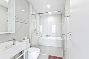 73 Awesome White Bathroom Ideas, White Modern Bathroom Ideas Photo Gallery