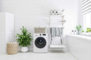 White laundry room interior