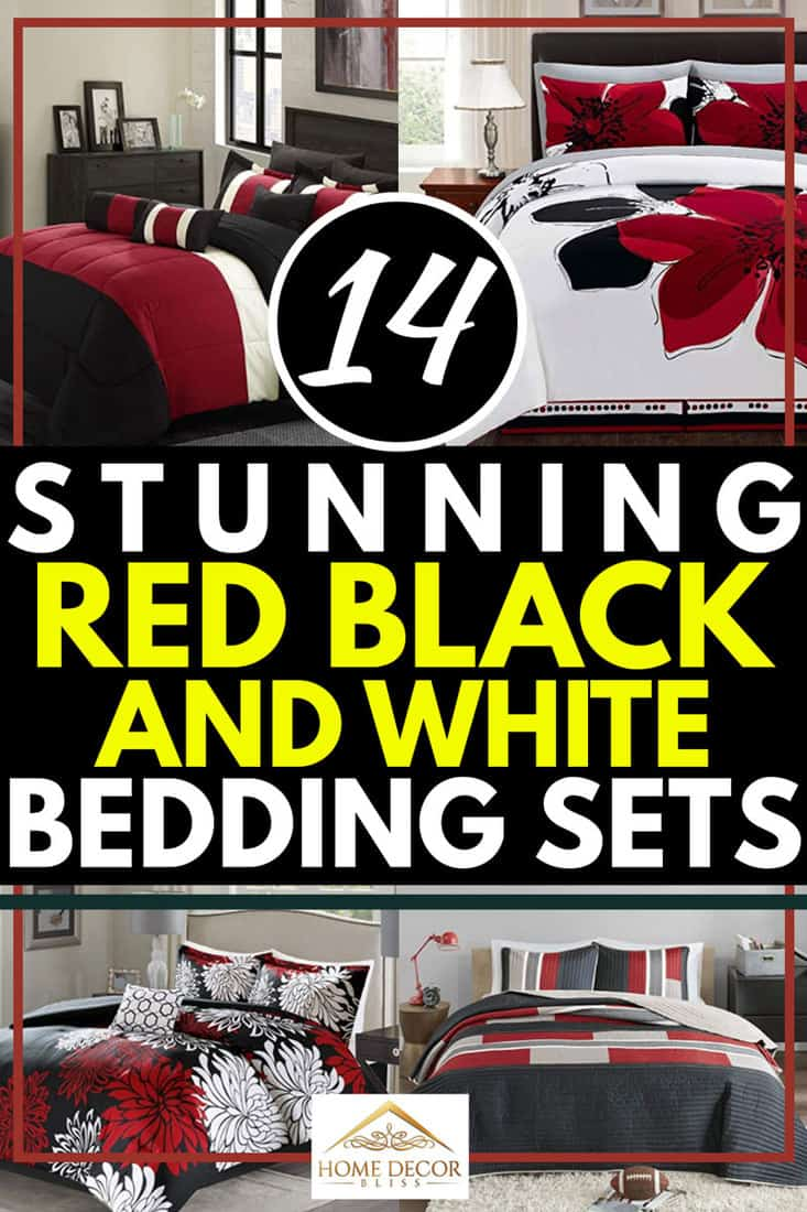 14 Stunning Red, Black and White Bedding Sets