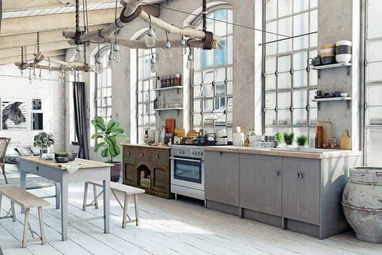 Attic loft kitchen with eclectic interior design, 21 Eclectic Kitchen Ideas [Photo Inspiration Post]
