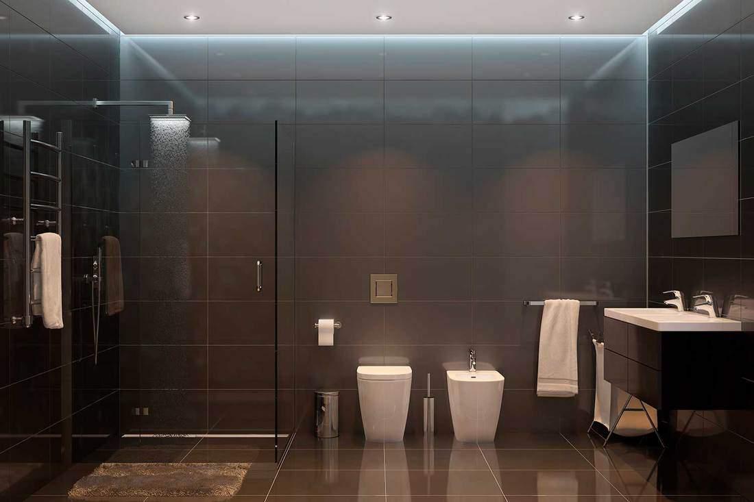 Black modern shower room