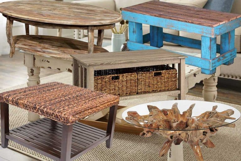 Collage of beach style coffee tables
