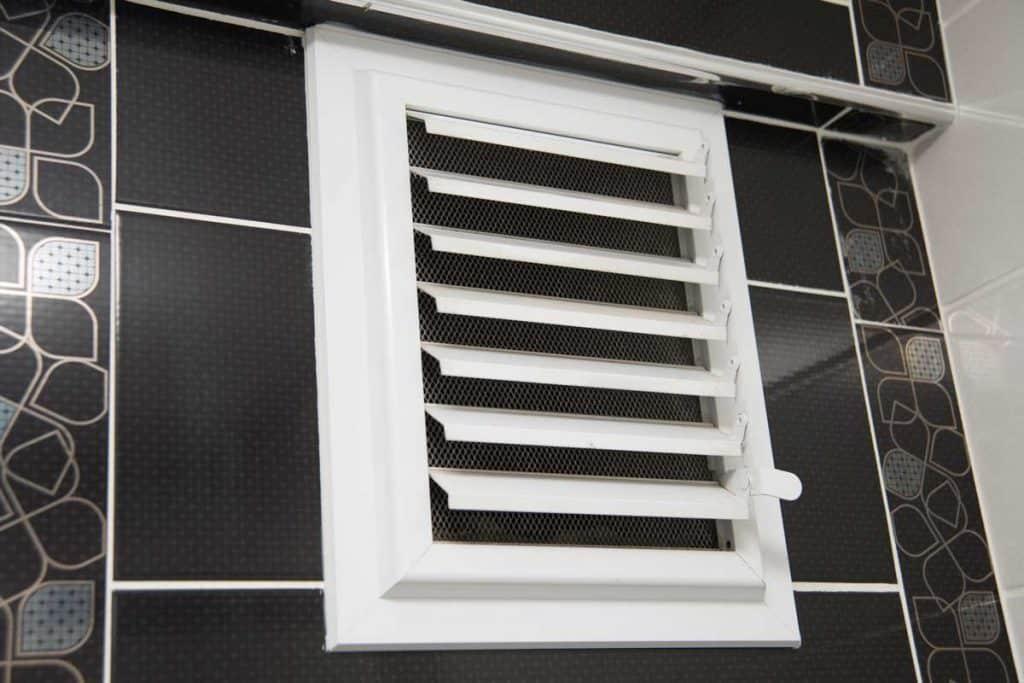 Ventilation in bathroom