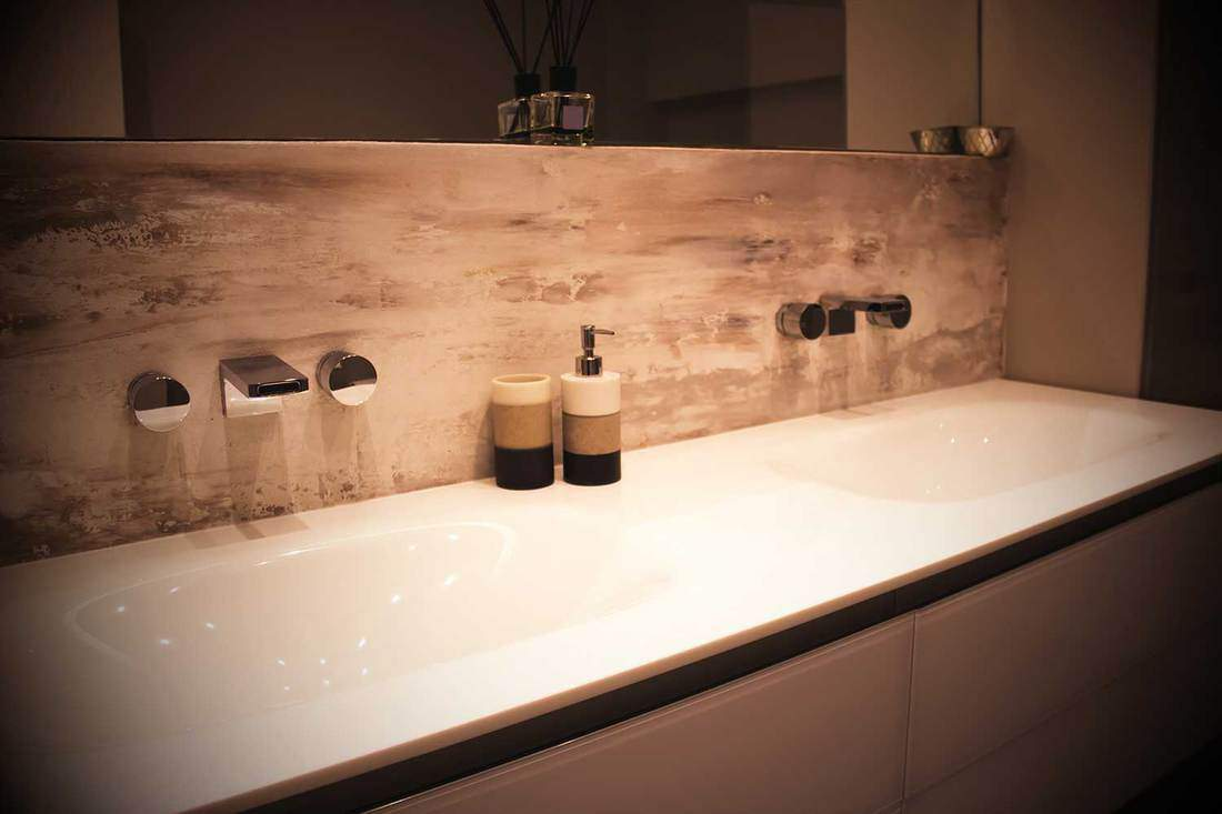 Luxury home bathroom with double sinks