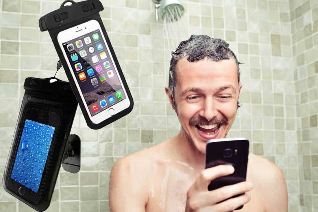 How To Use Your Phone In The Shower Inc Pocketed Shower Curtains Ideas Home Decor Bliss
