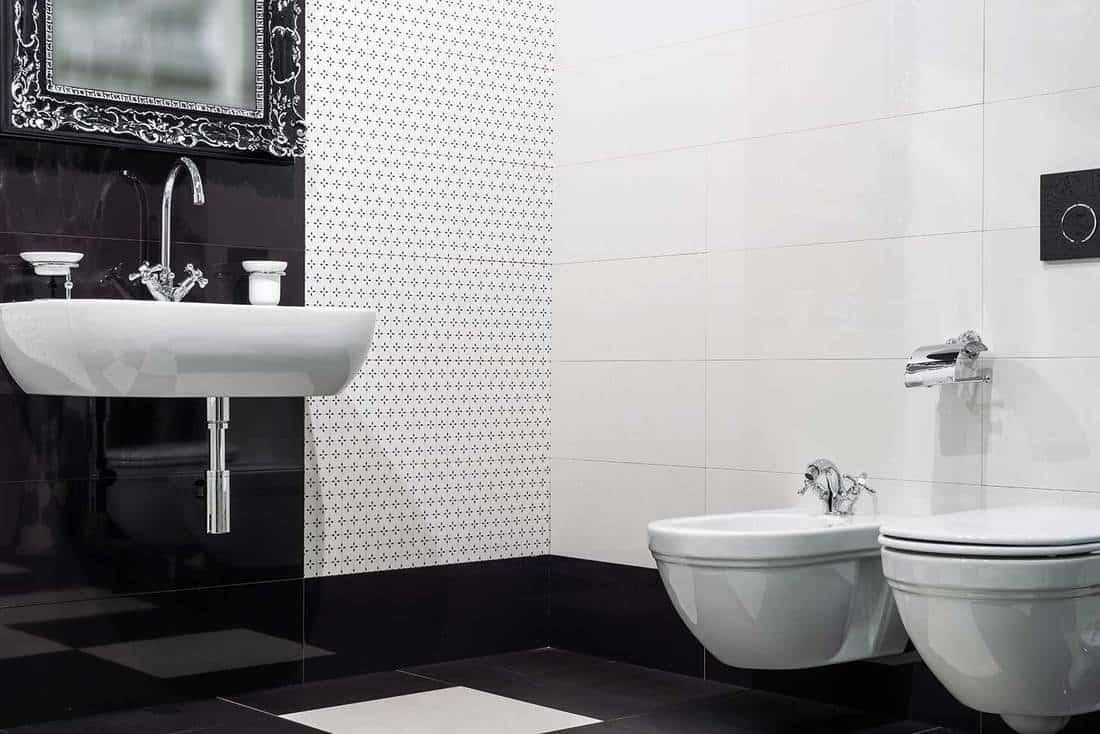 Modern toilet room in luxury home