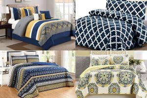 Navy and Yellow Bedding Sets [13 Fun Options!]