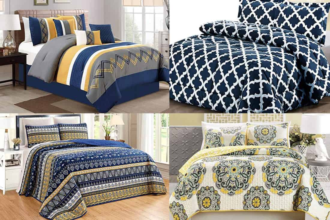 Navy And Yellow Bedding Sets 13 Fun Options Home Decor Bliss