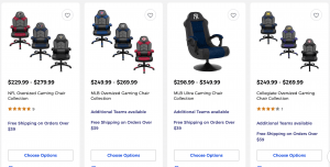 Gaming chair on Bed bath and beyond's page