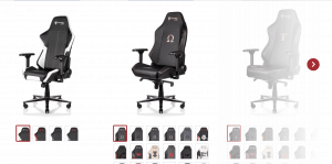Gaming chair on Secret Lab's page