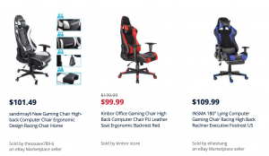 Gaming chair on Sears page