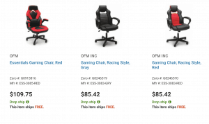 Gaming chair on Zoro's page