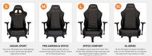 Gaming chair on Need for seat USA's page