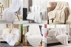 12 White Fluffy Faux Fur Throw Blankets You Need In Your Home