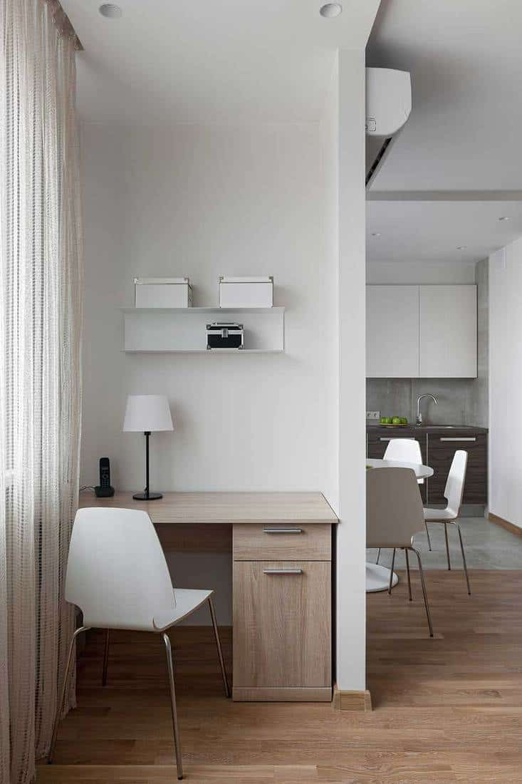 Workplace in a new modern scandinavian style apartment