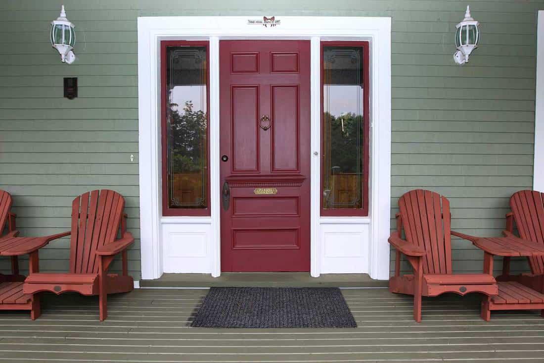 Cottage with red door