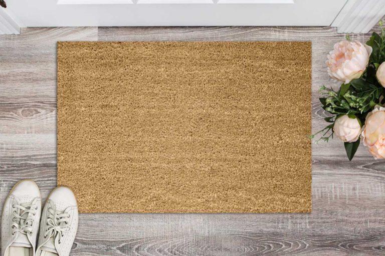 Blank coir doormat before the door in the hall., What is a Coir Doormat [Including 15 Examples]