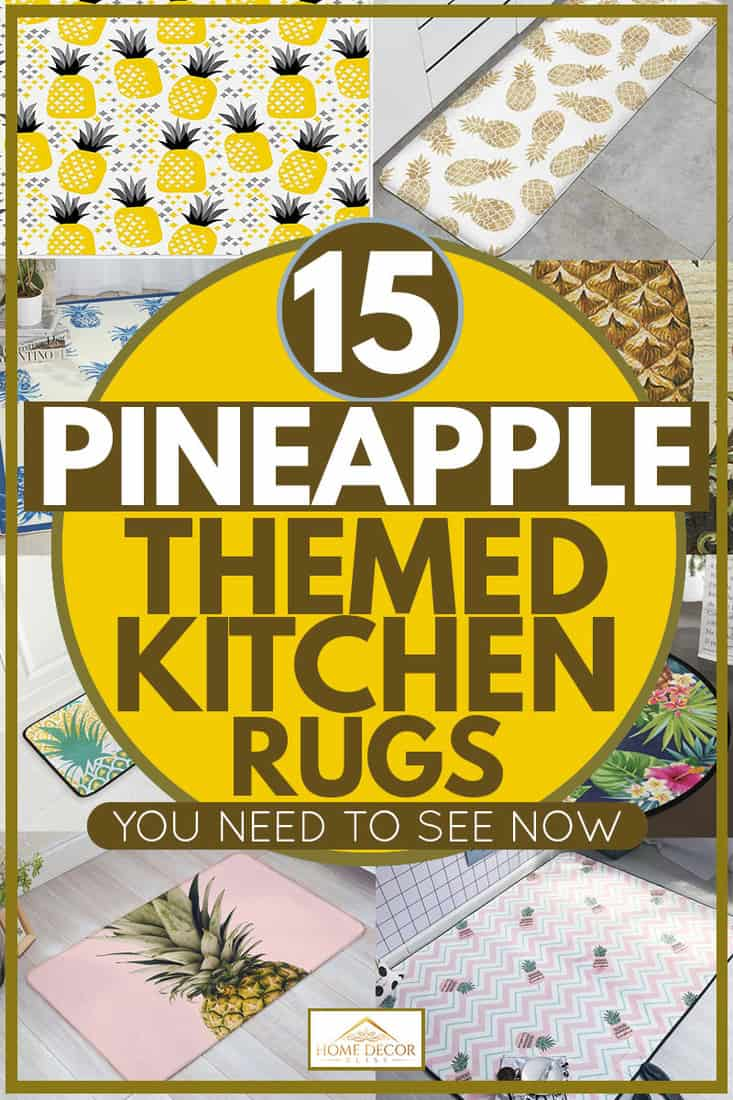 Pineapple rug products for kitchen use, 15 Pineapple-Themed Kitchen Rugs You Need To See Now