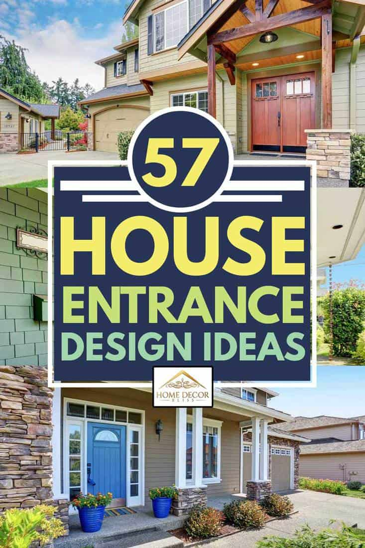 collage of beautiful house entrance design ideas, 57 House Entrance Design Ideas