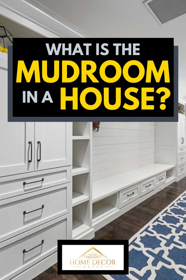 A modern mud room with hardwood floor and white wooden cabinets, What Is The Mudroom In A House?